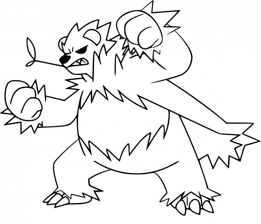 Coloriage Pandarbare Pokemon