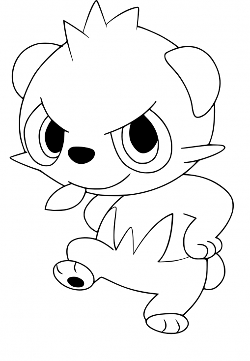 Coloriage Pandespiègle Pokemon