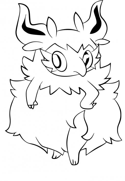 Coloriage Cocotine Pokemon