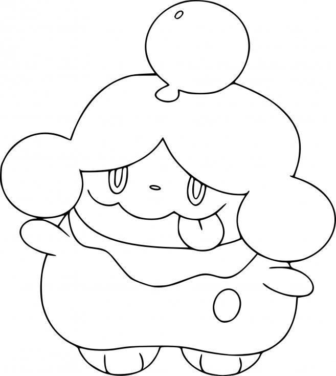 Coloriage Cupcanaille Pokemon