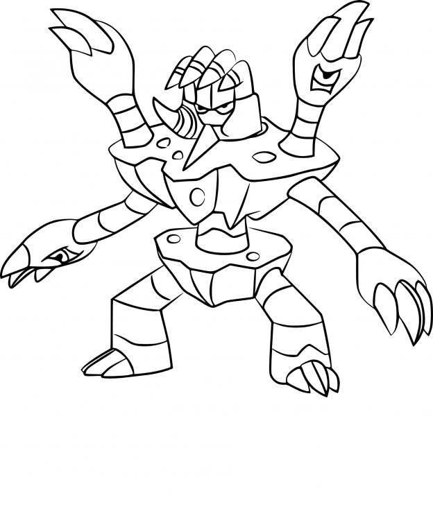 Coloriage Golgopathe Pokemon