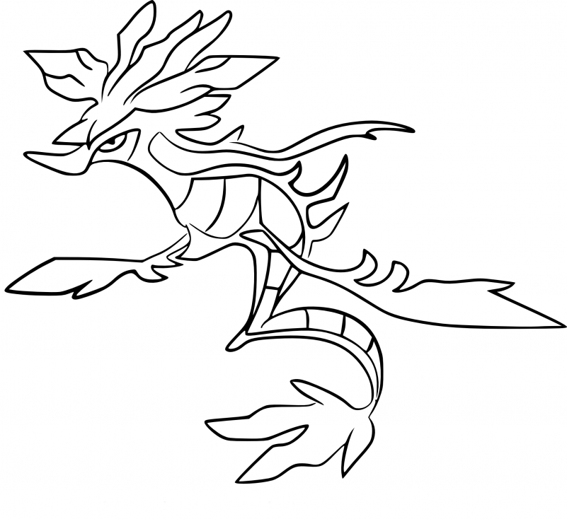 Coloriage Kravarech Pokemon