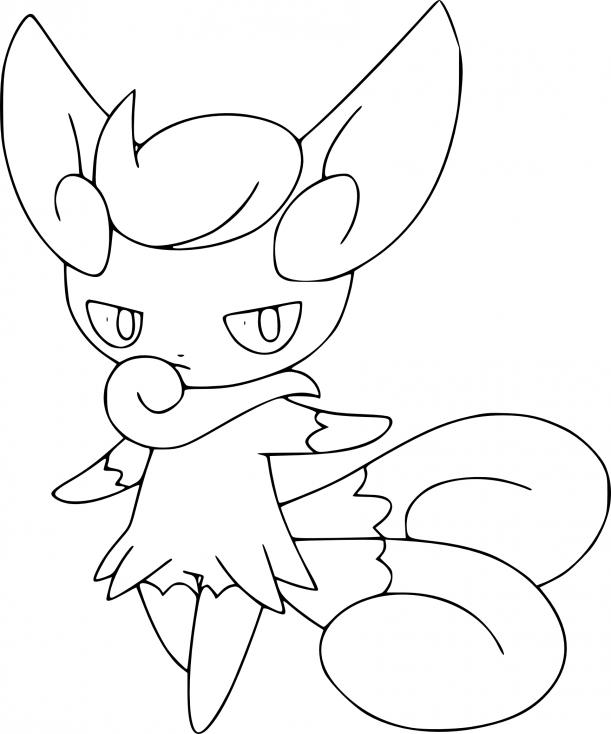 Coloriage Mistigrix Pokemon