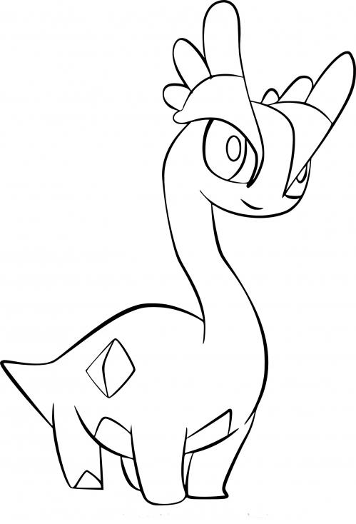 Coloriage Amagara Pokemon