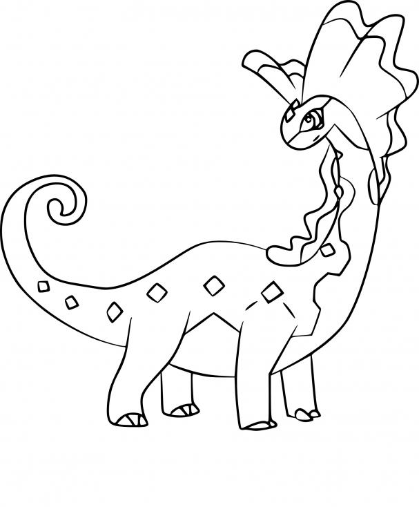 Coloriage Dragmara Pokemon