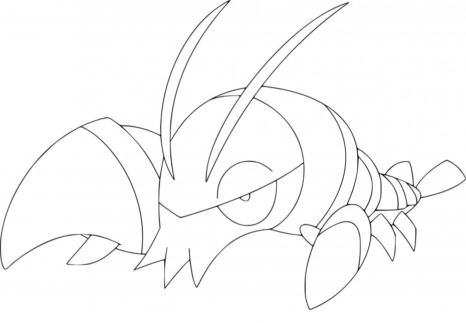 Coloriage Flingouste Pokemon