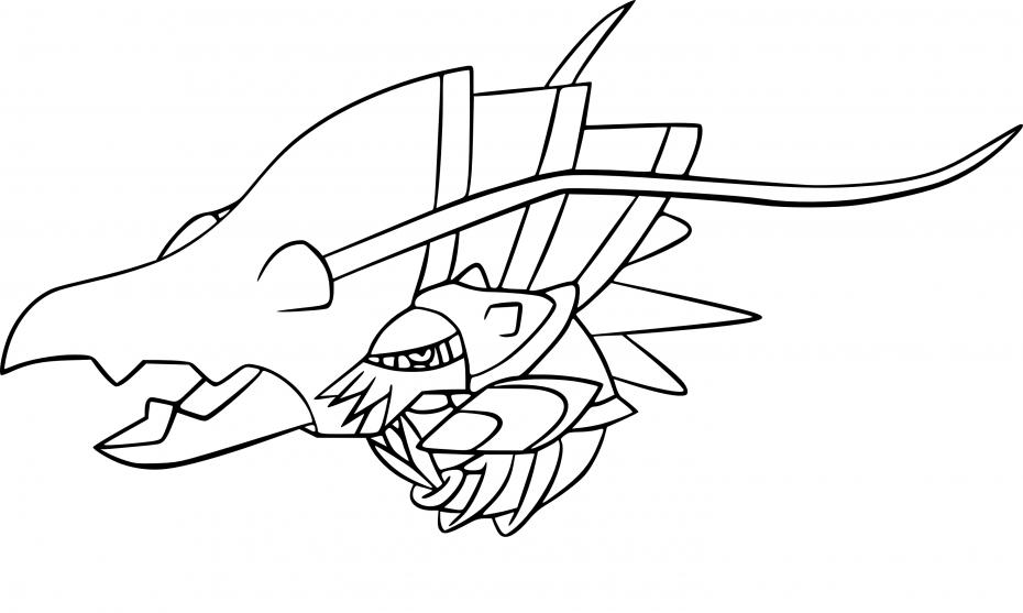 Coloriage Gamblast Pokemon