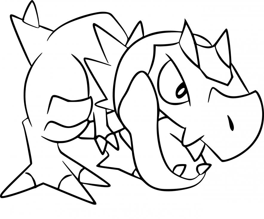 Coloriage Ptyranidur Pokemon