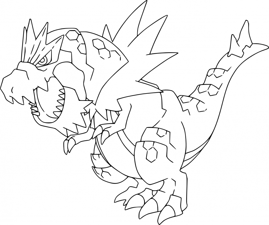 Coloriage Rexillius Pokemon