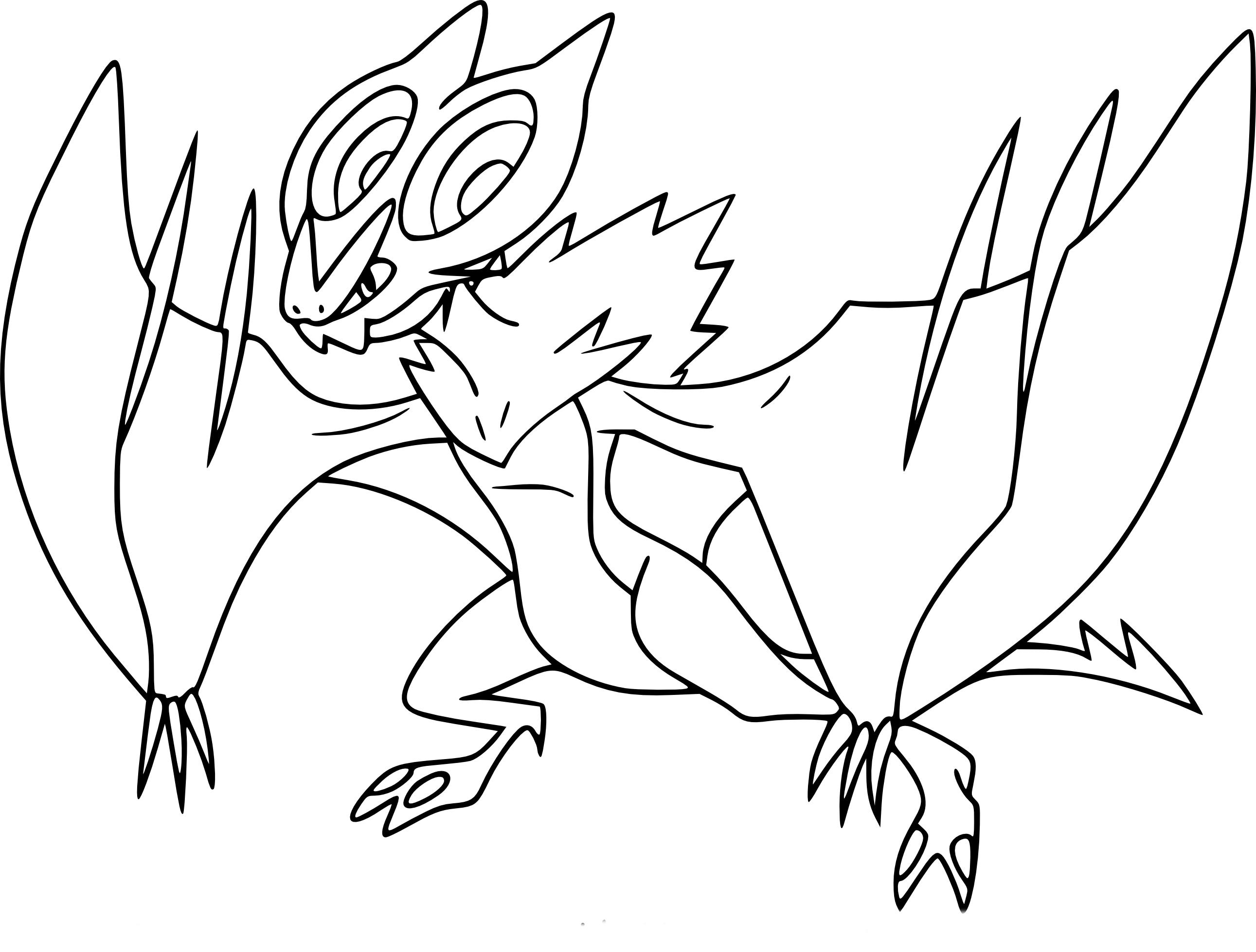 Coloriage Bruyverne Pokemon
