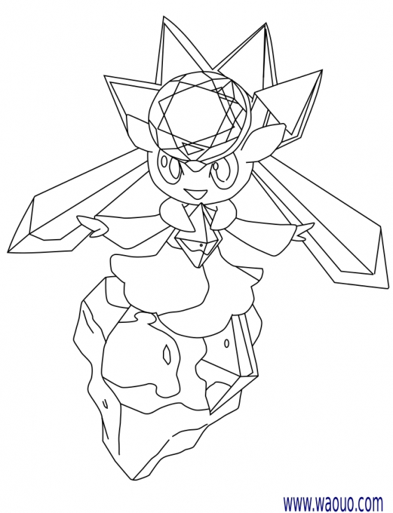 Coloriage Diancie Pokemon