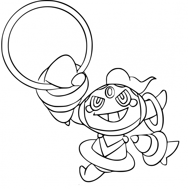 Coloriage Hoopa Pokemon