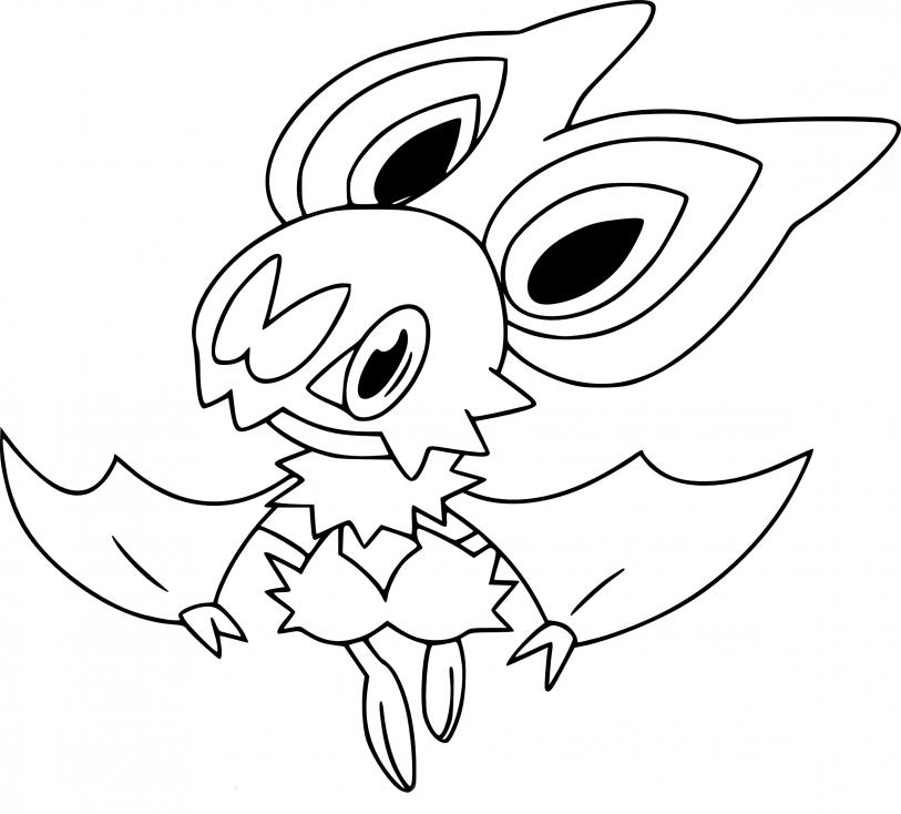 Coloriage Sonistrelle Pokemon