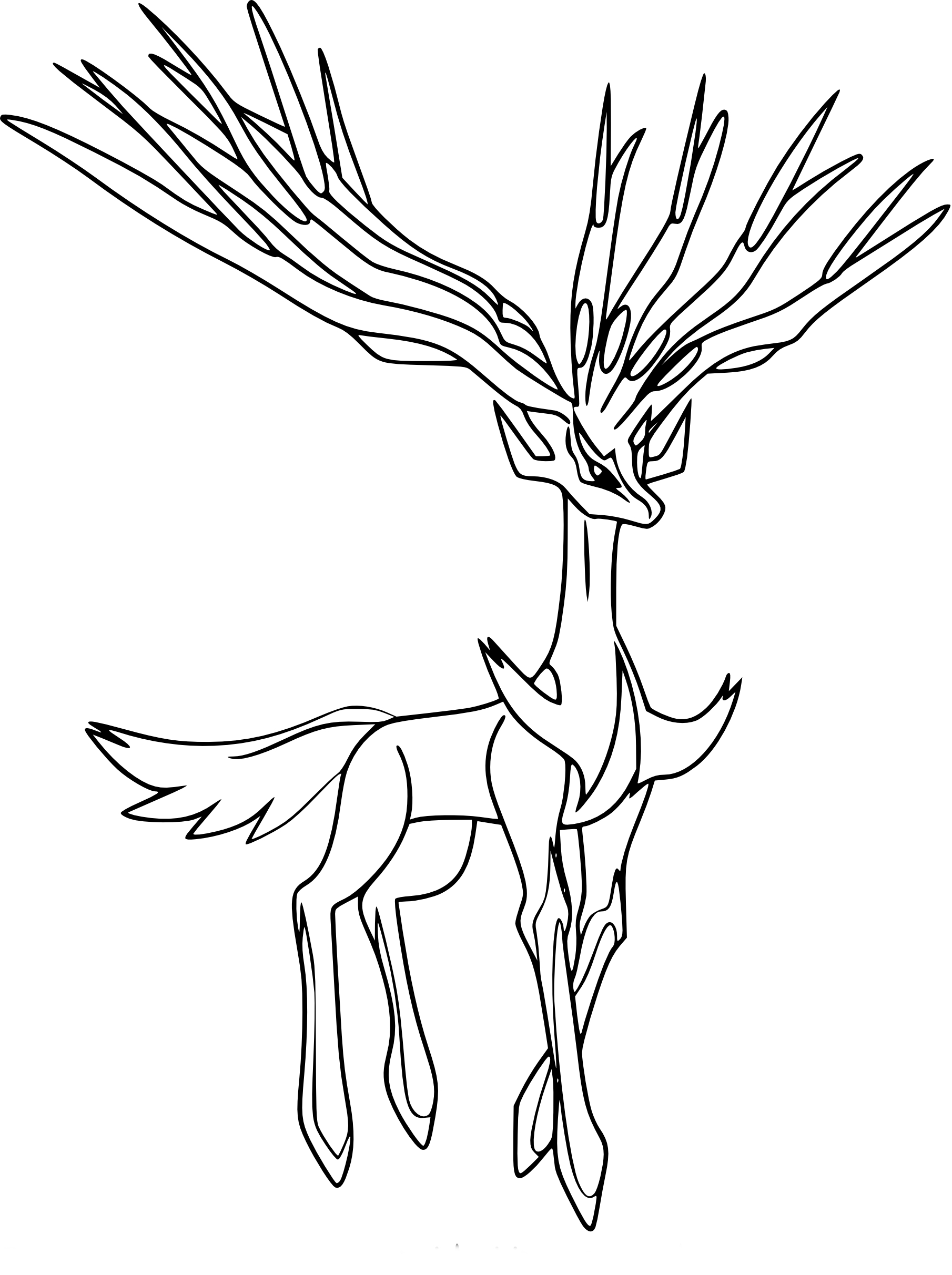 Coloriage Xerneas Pokemon 224 Imprimer