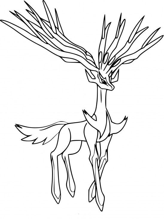 Coloriage xerneas pokemon imprimer - Coloriage pokemon legendaire a imprimer ...