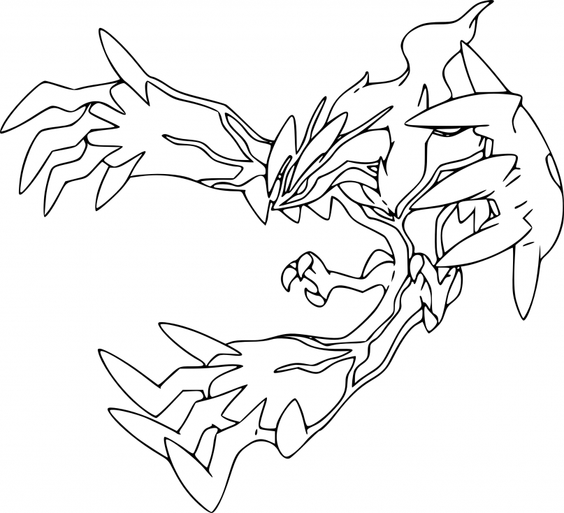 Coloriage Yveltal Pokemon