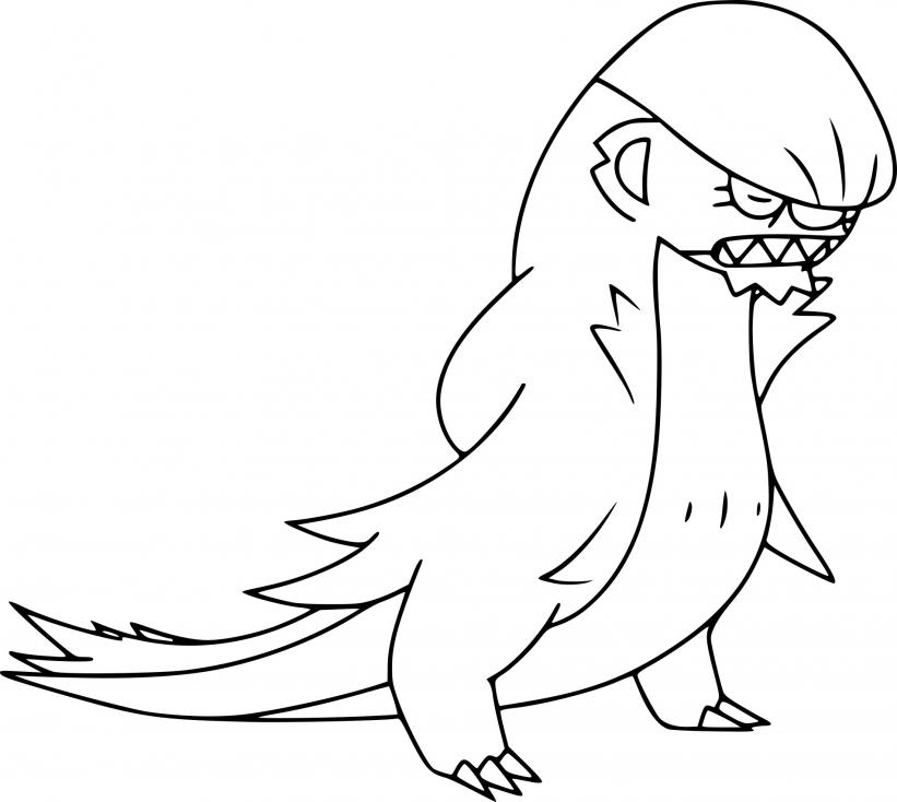 Coloriage Argouste Pokemon