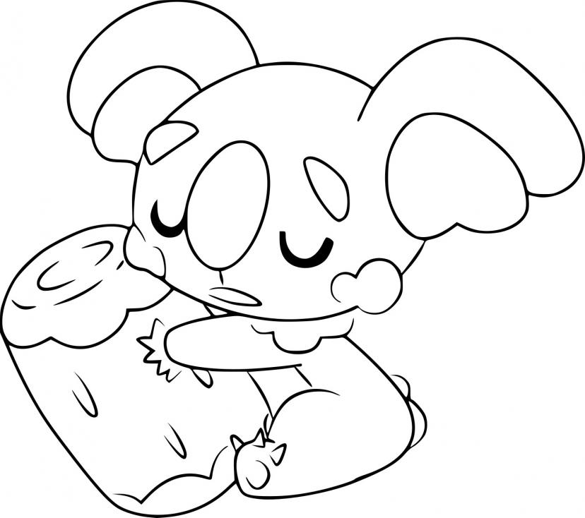 Coloriage Dodoala Pokemon