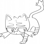 Coloriage Pokemon Chat Feu A Imprimer