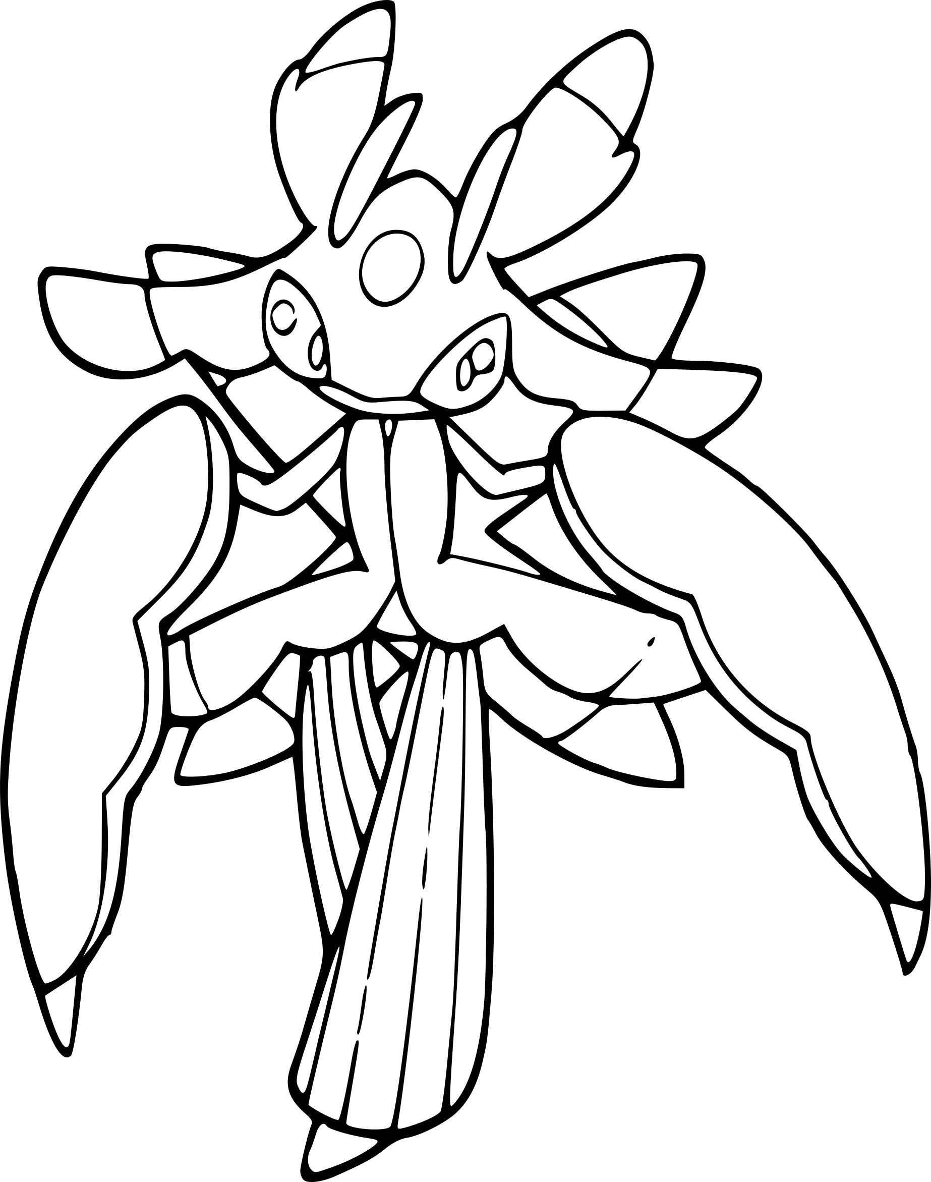 Coloriage Floramantis Pokemon à imprimer