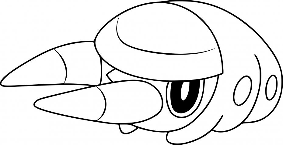 Coloriage Larvibule Pokemon