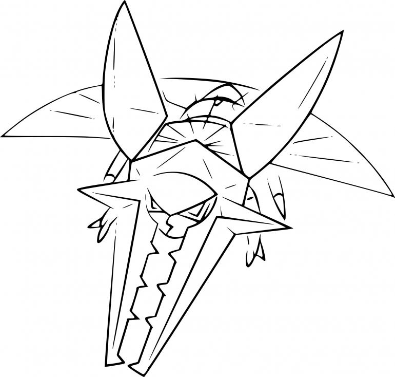 Coloriage Lucanon Pokemon