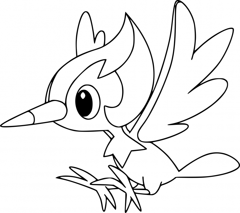 Coloriage Picassaut Pokemon
