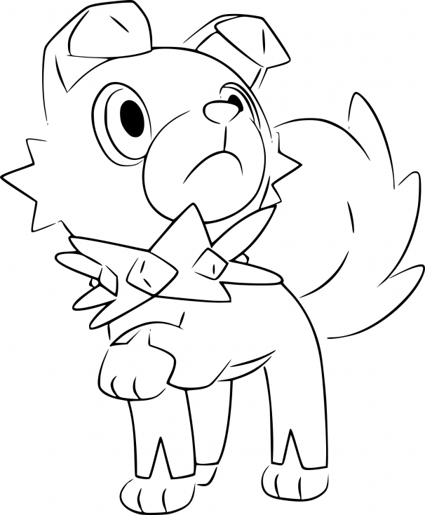 Coloriage Rocabot Pokemon