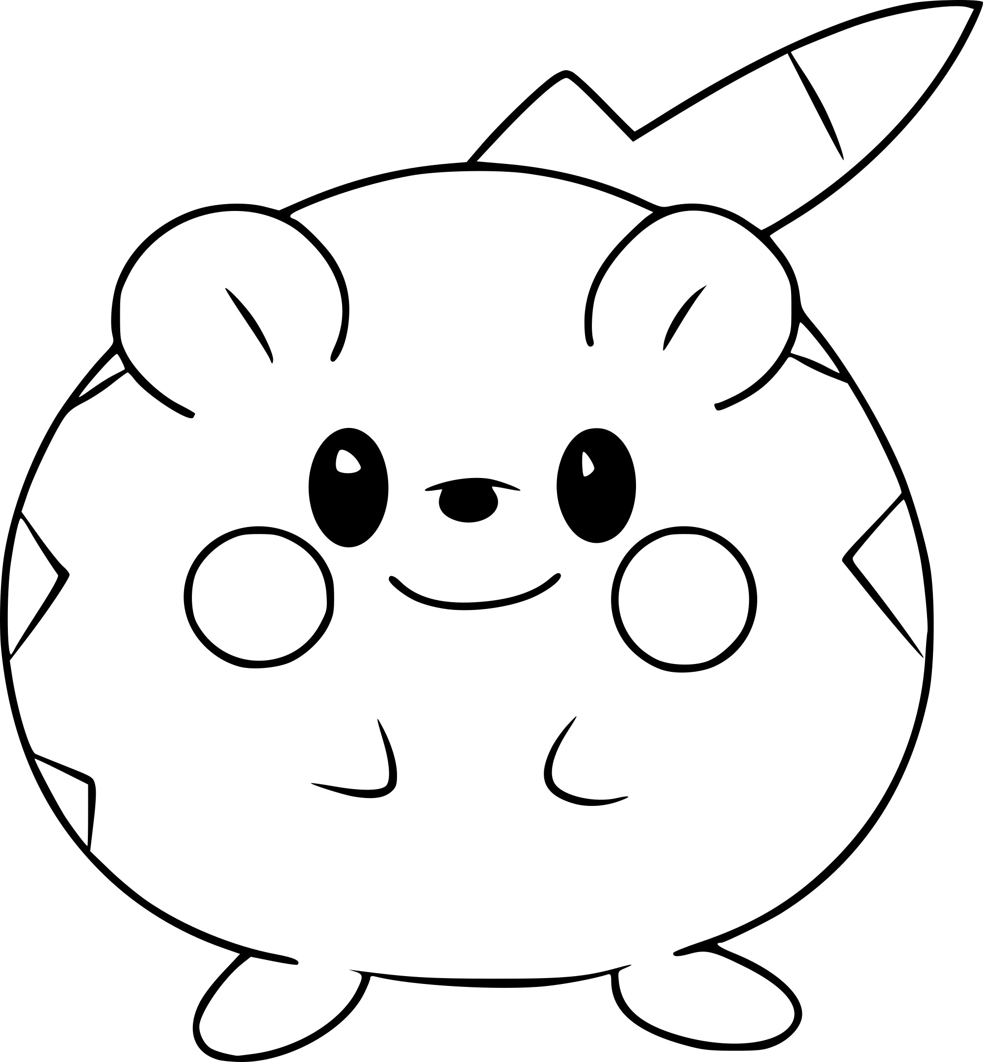 Coloriage Togedemaru Pokemon A Imprimer