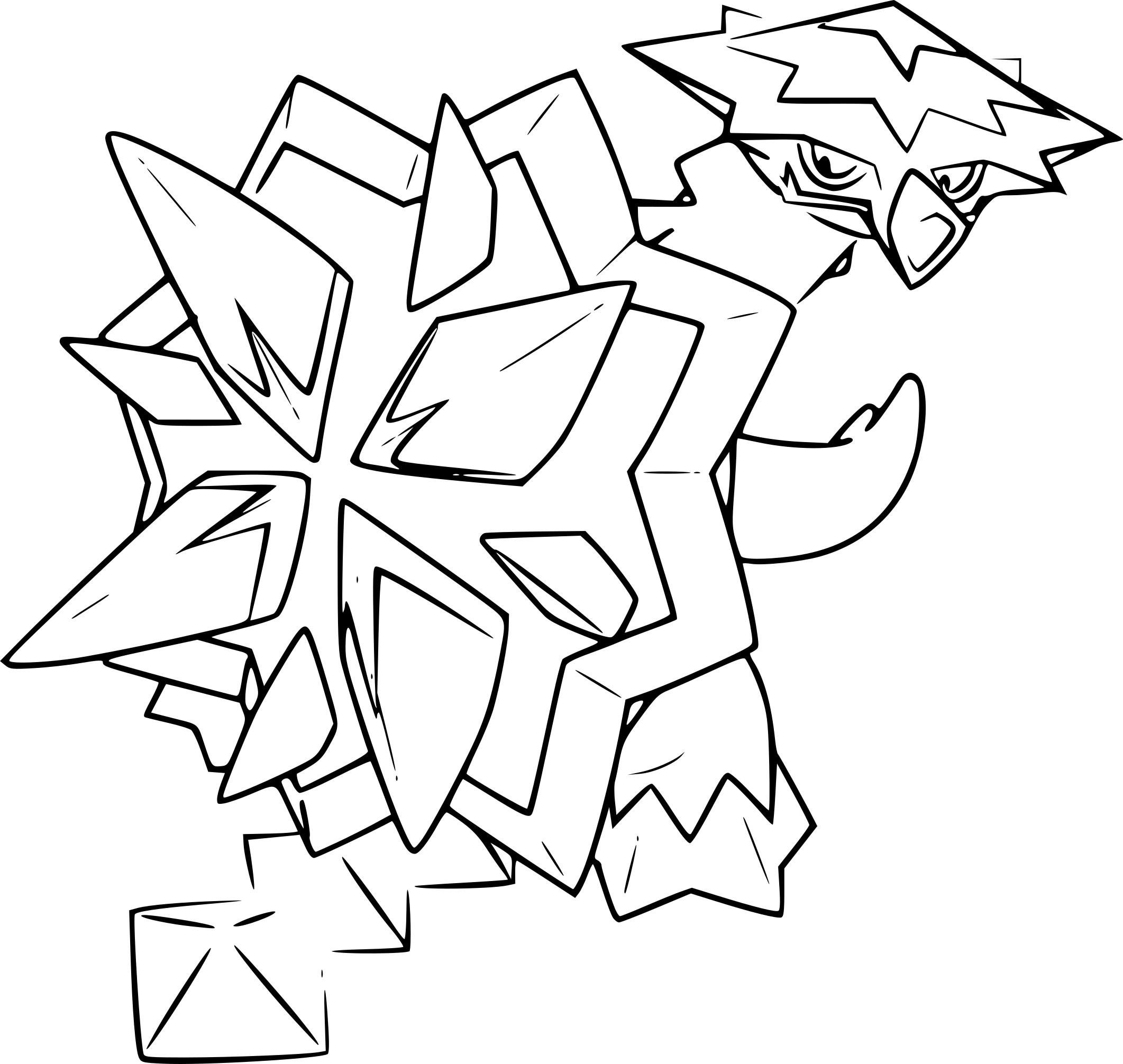 Coloriage Boumata Pokemon 224 Imprimer