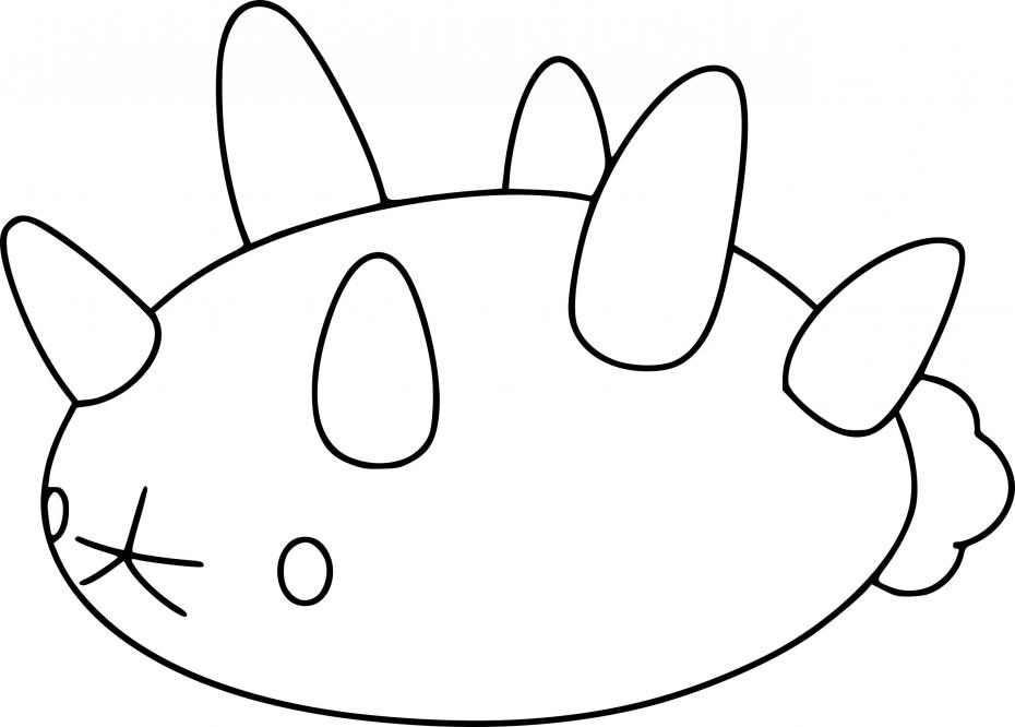 Coloriage Concombaffe Pokemon