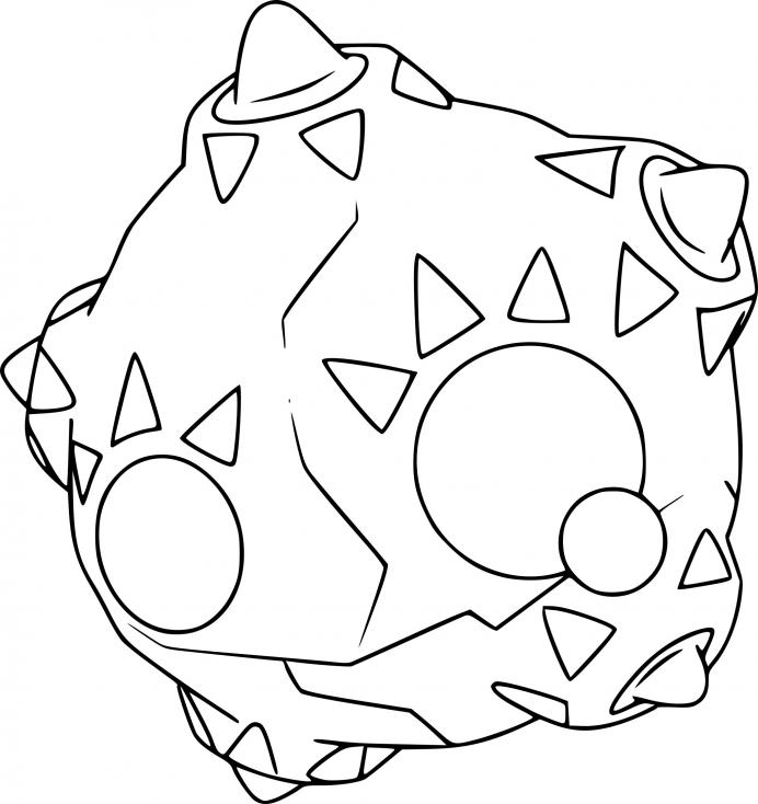 Coloriage Météno Pokemon