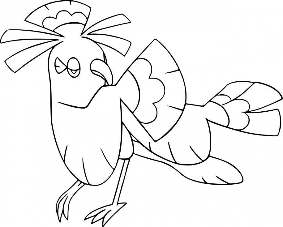 Coloriage Plumeline Pokemon