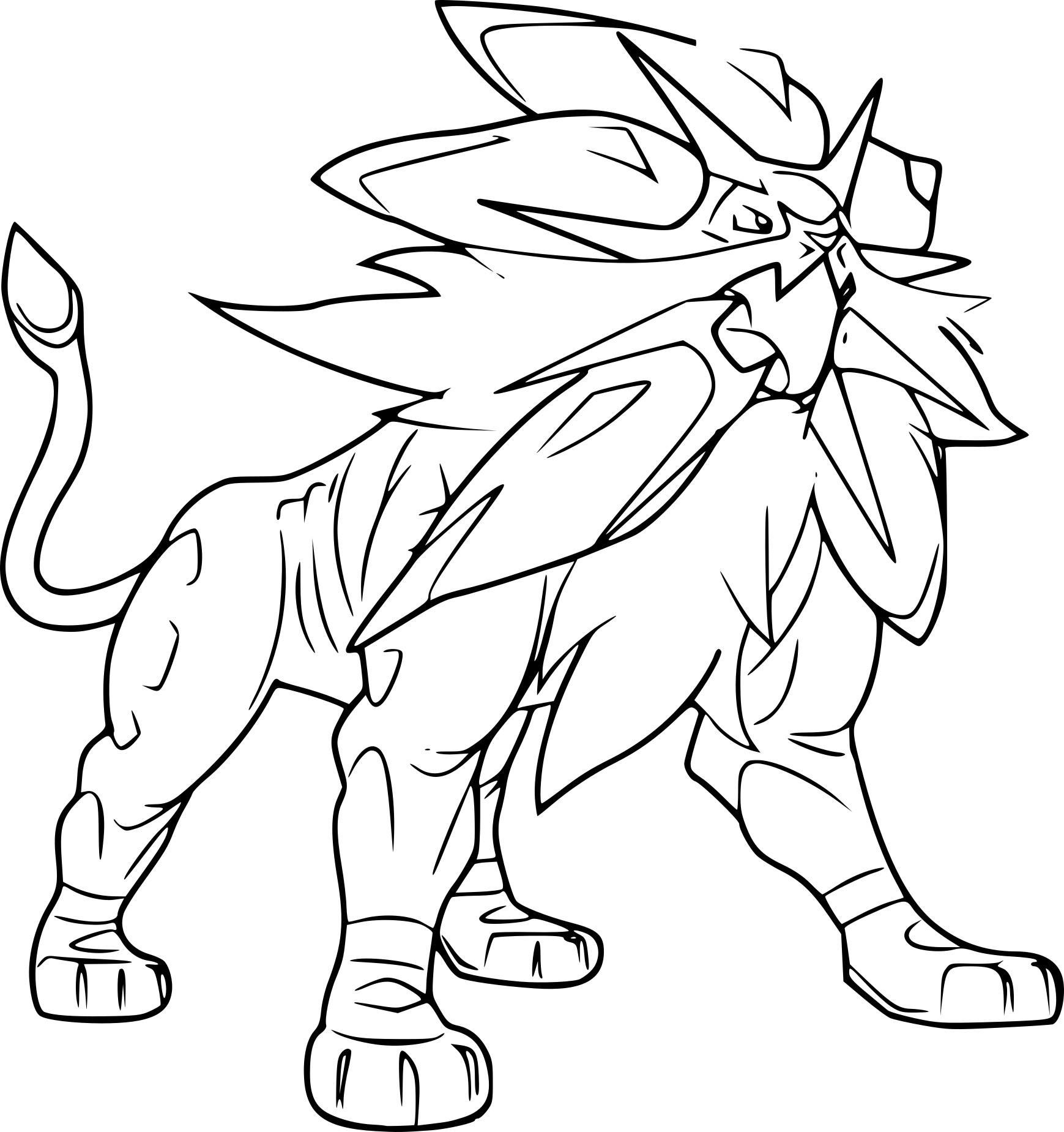 Coloriage Solgaleo Pokemon A Imprimer
