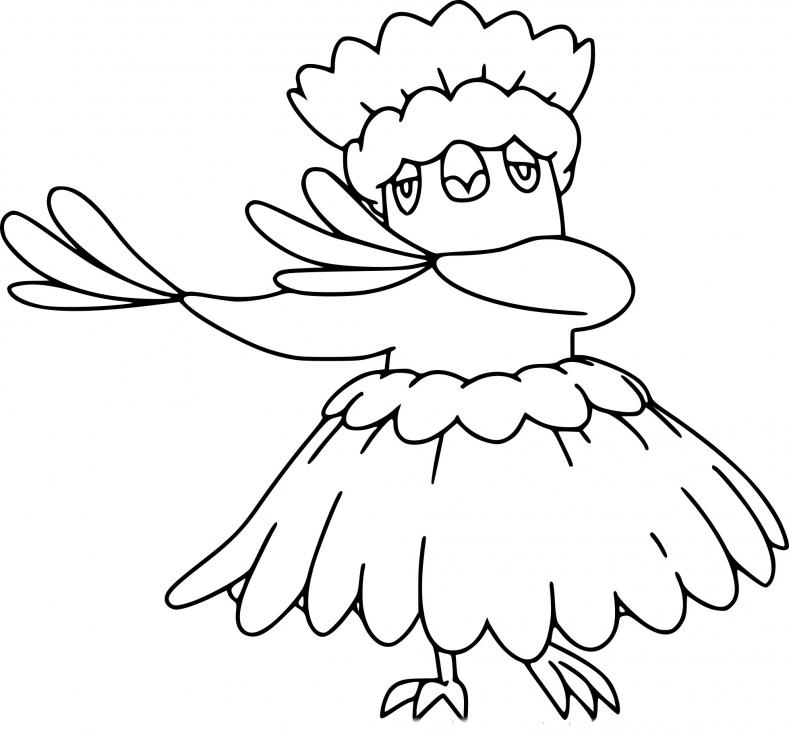 Coloriage Plumeline Hula Pokemon