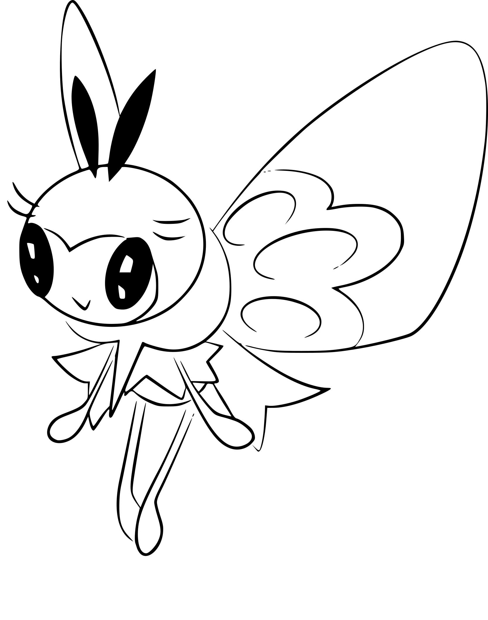 Coloriage Rubombelle Pokemon à imprimer