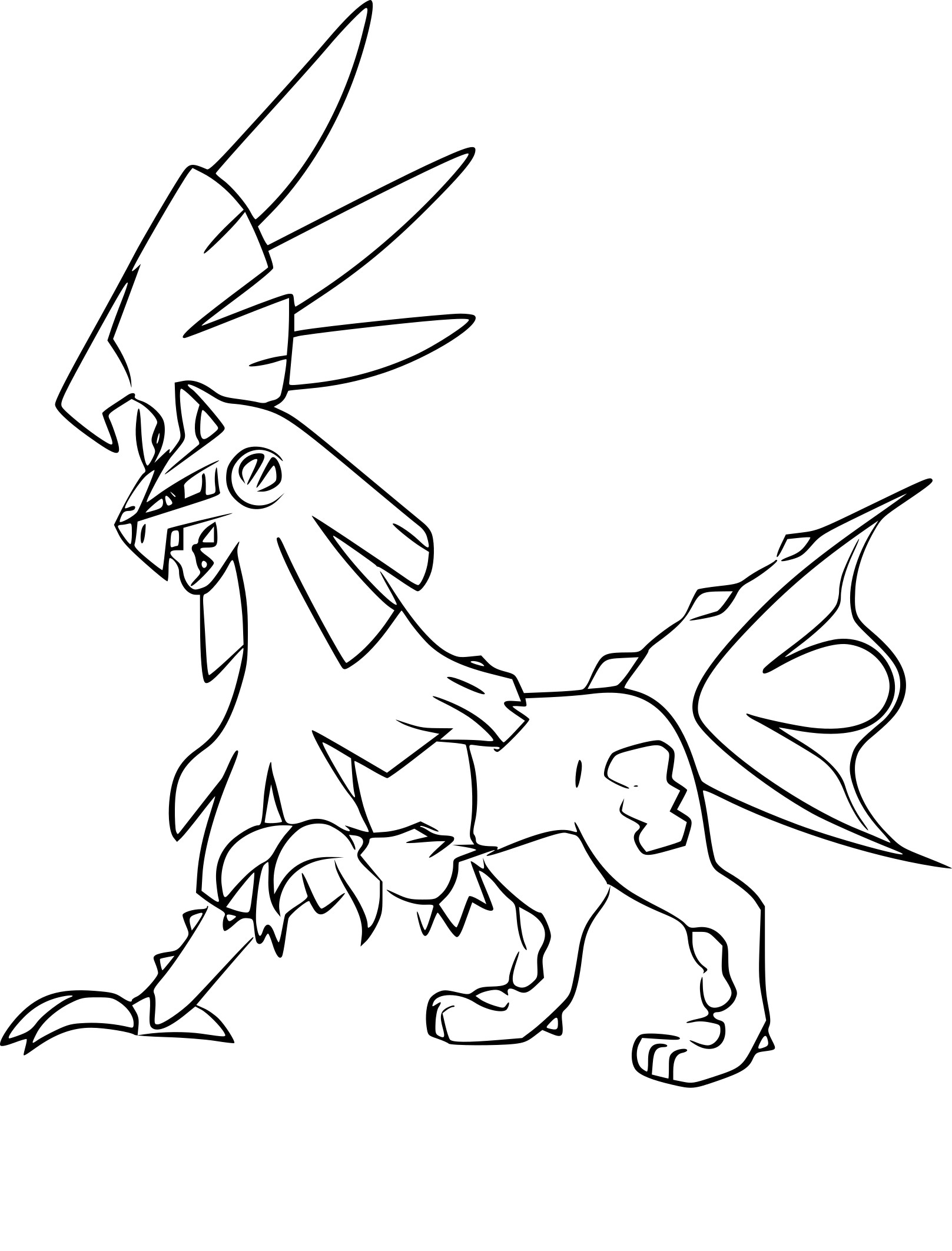Coloriage Silvallie Pokemon A Imprimer