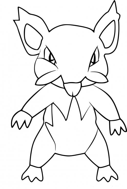 Coloriage Rattata d'Alola Pokemon