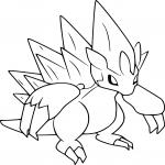Coloriage Sablaireau d'Alola Pokemon