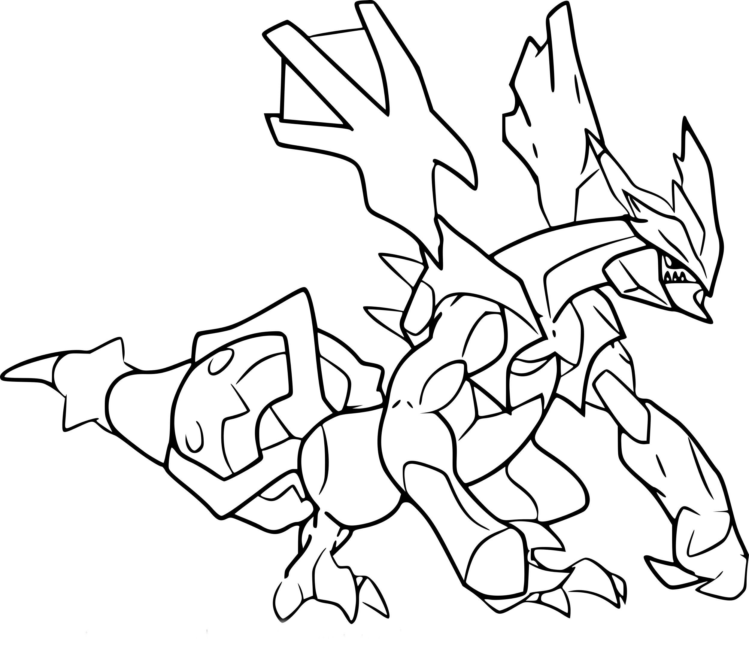 Élégant Dessin A Colorier Pokemon Zekrom