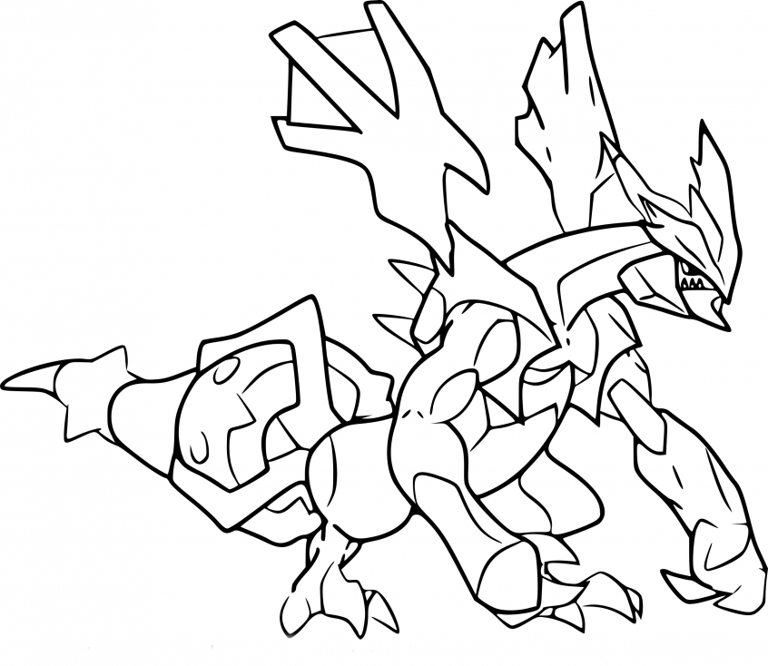 Coloriage Kyurem noir Pokemon