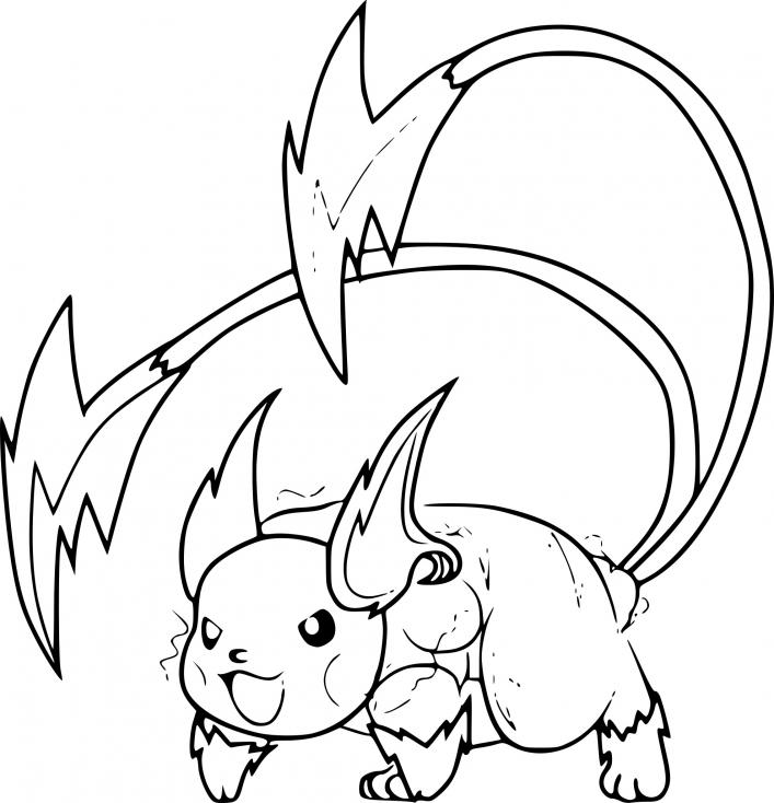 coloriage mega raichu pokemon