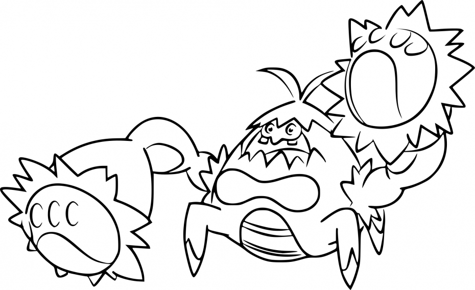 Coloriage Crabominable Pokemon