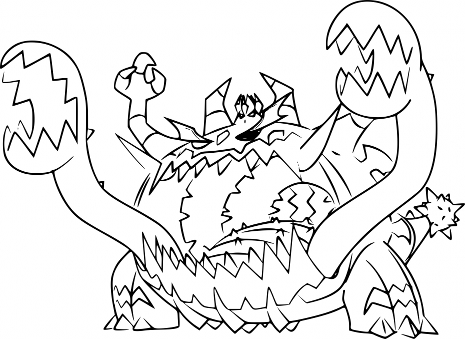 Coloriage Engloutyran Pokemon