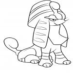 Coloriage Couafarel pharaon Pokemon