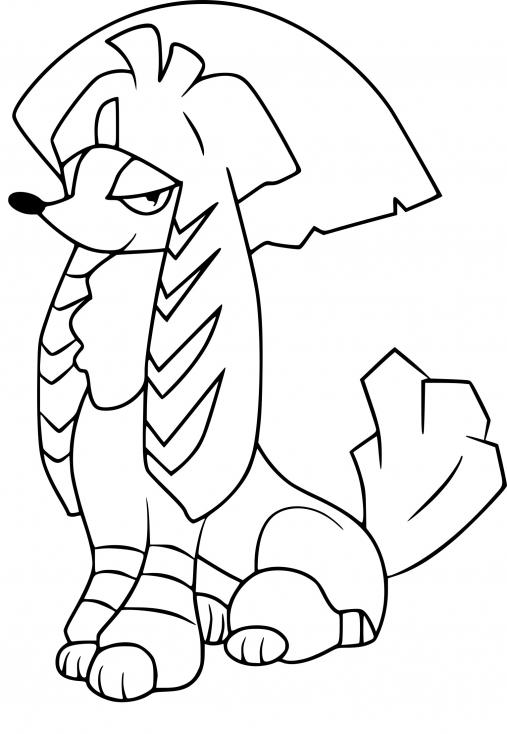 Coloriage Couafarel Kabuki Pokemon