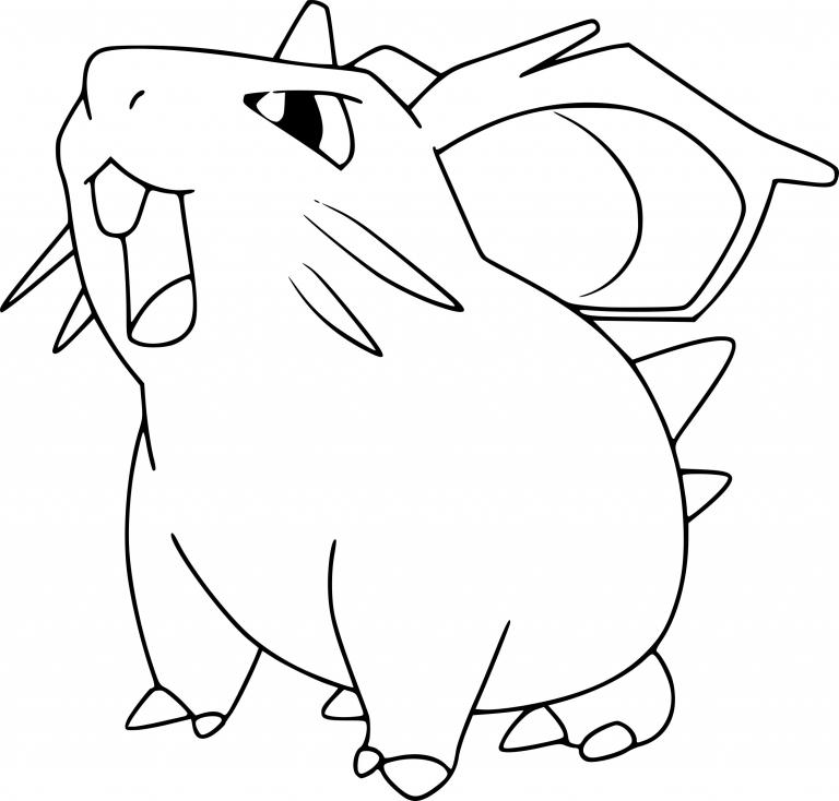 Coloriage Nidoran femelle Pokemon