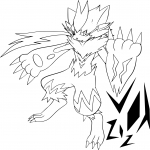 Coloriage Zeraora Pokemon