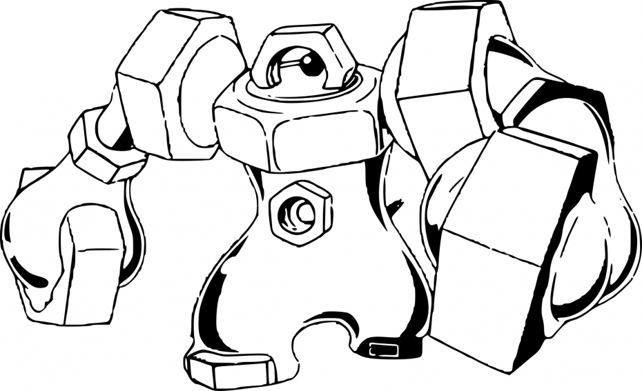 Coloriage Melmetal Pokemon