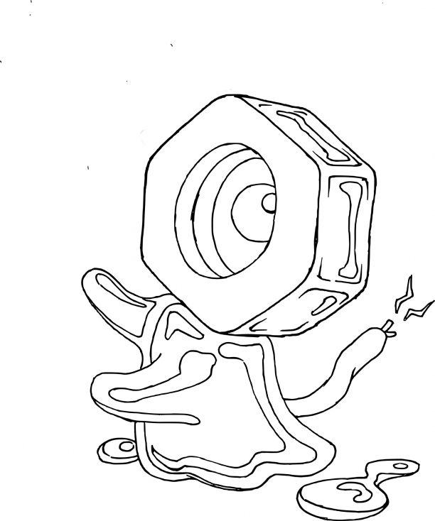 Coloriage Meltan Pokemon
